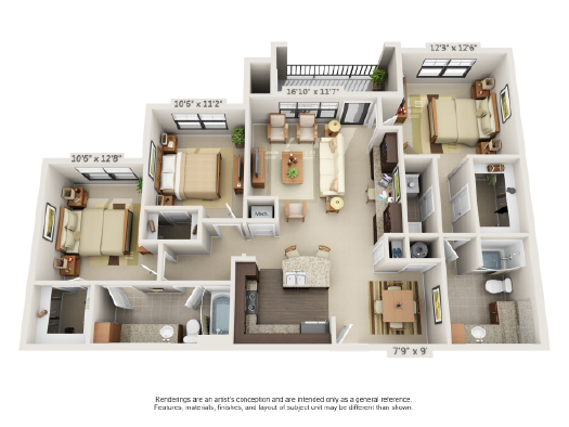 Floor plans 3343 memorial for 10 x 11 room square feet